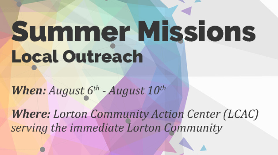 Summer Missions Local Outreach