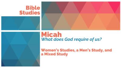 2018 MIXED/Men & Women Fall Bible Study Saturday Mornings